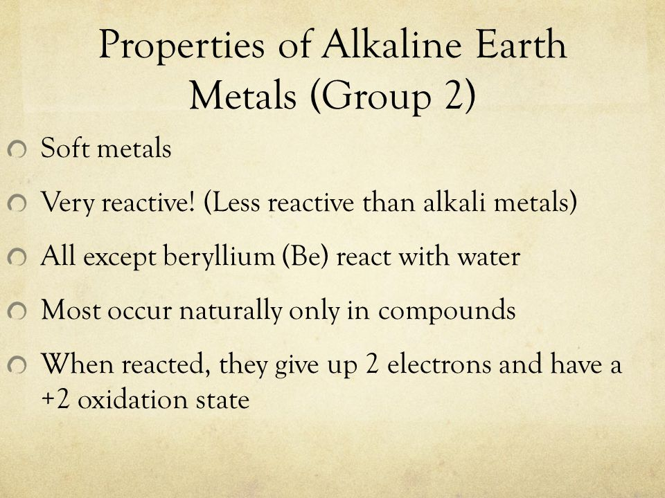 Metals Found In Free State In Nature