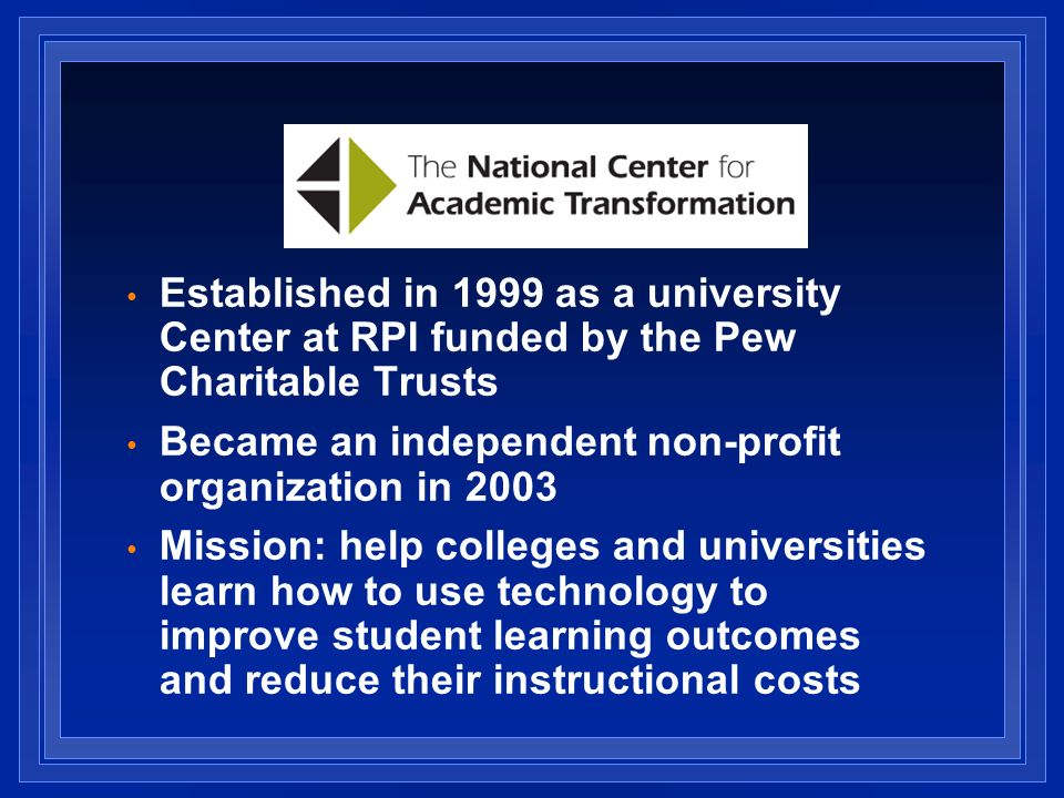 Became an independent non-profit organization in 2003