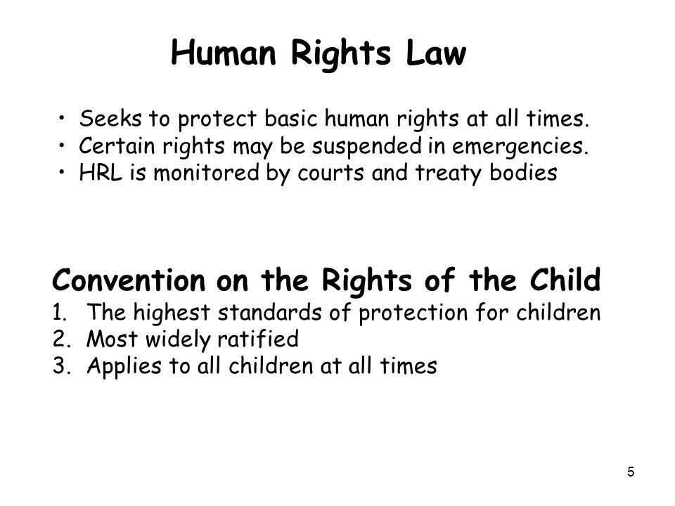 Human Rights Law Convention on the Rights of the Child