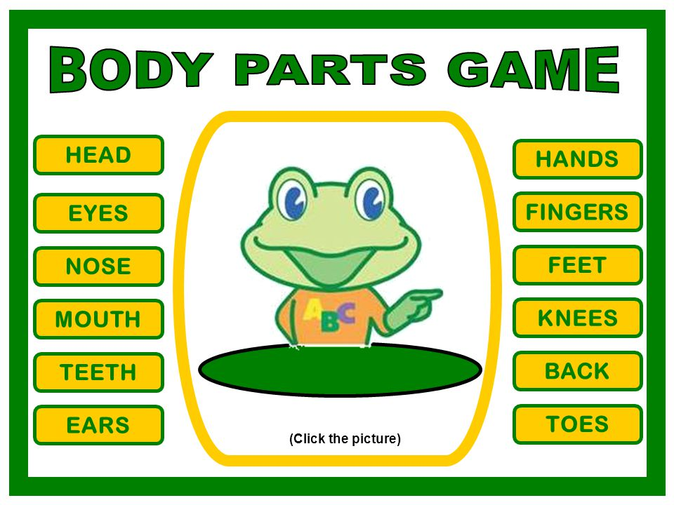 BODY PARTS GAME HEAD HANDS EYES FINGERS NOSE FEET MOUTH KNEES TEETH