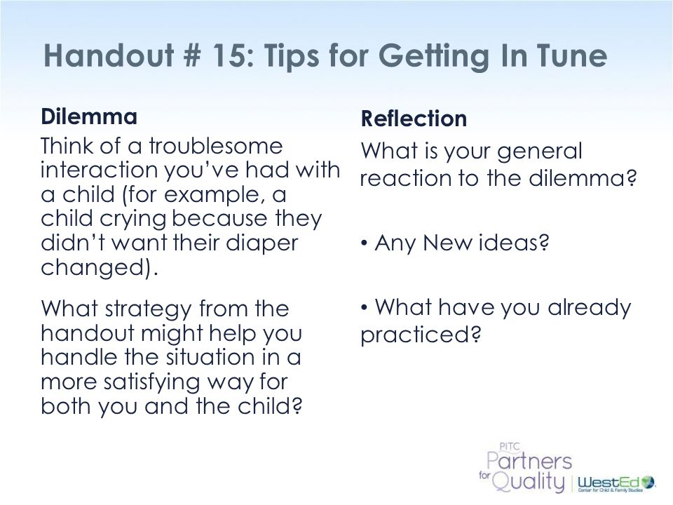 Handout # 15: Tips for Getting In Tune