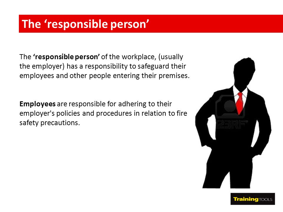 The 'responsible person'