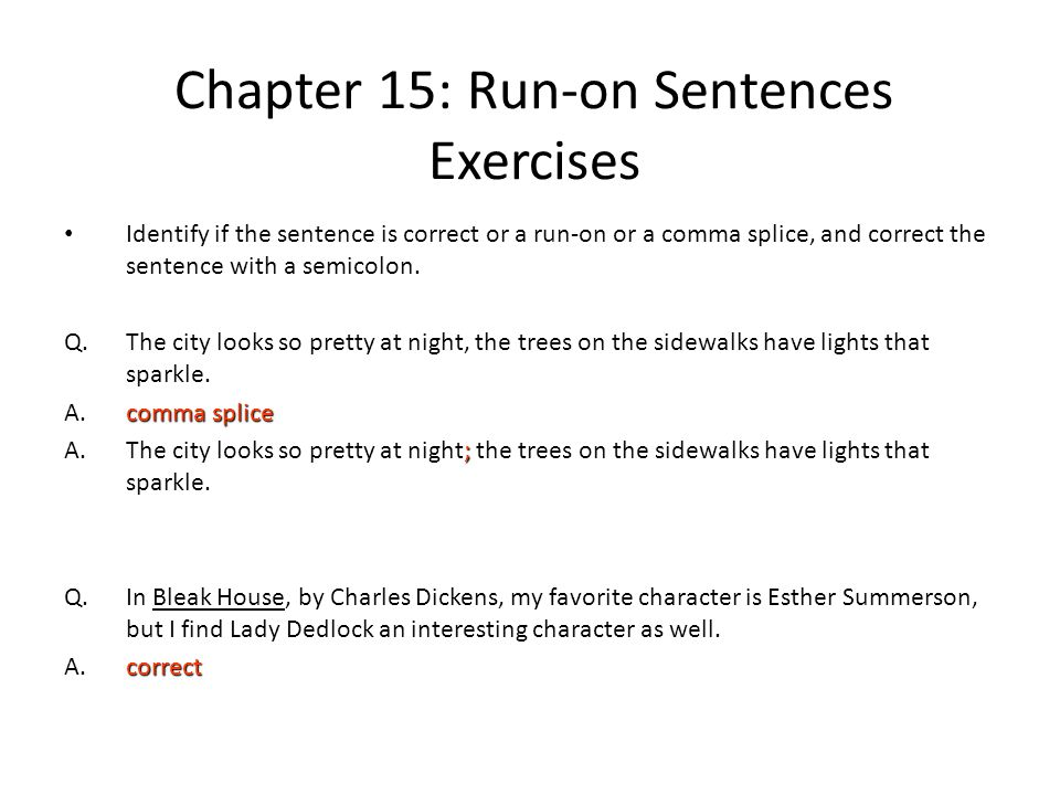 Chapter 16 Run On Sentences Ppt Download