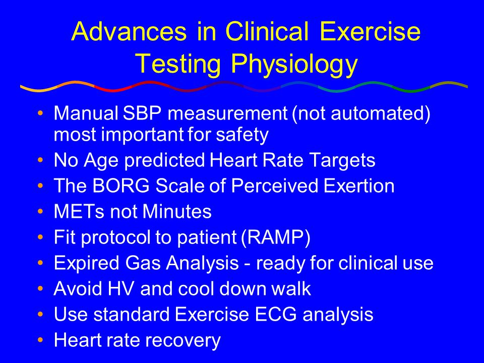 Advances in Clinical Exercise Testing Physiology