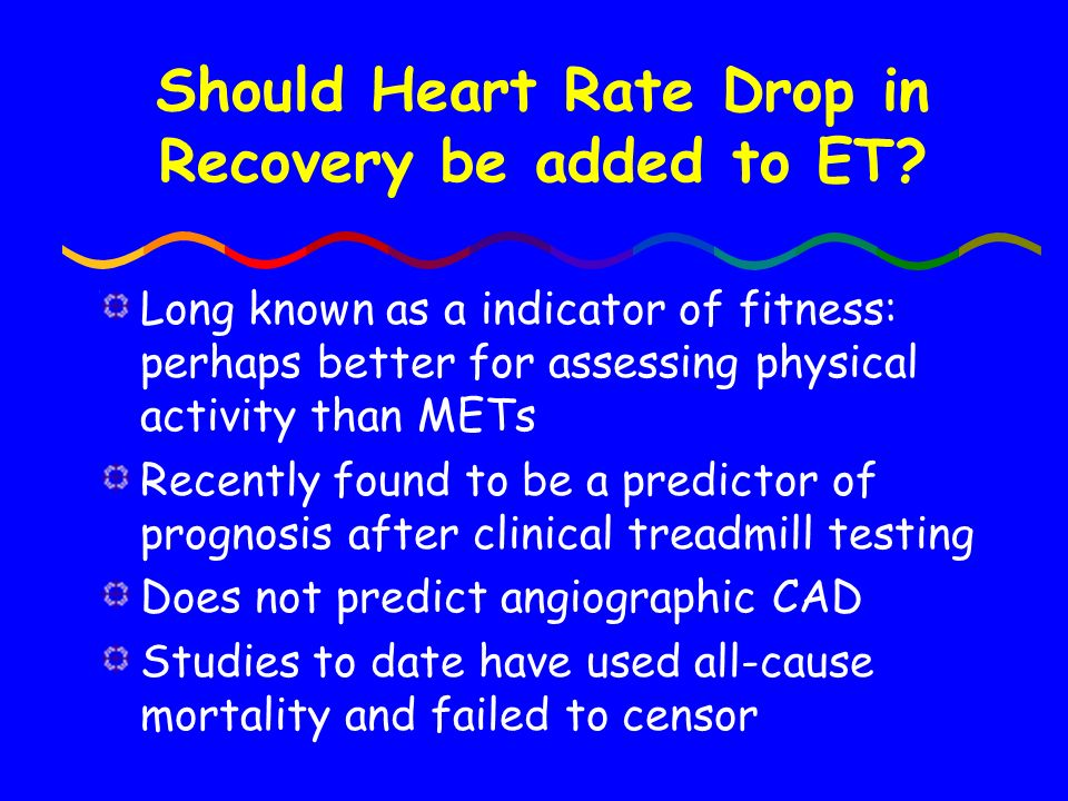 Should Heart Rate Drop in Recovery be added to ET