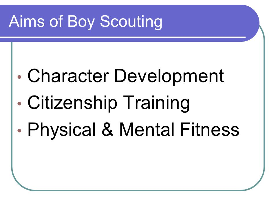 Character Development Citizenship Training Physical & Mental Fitness