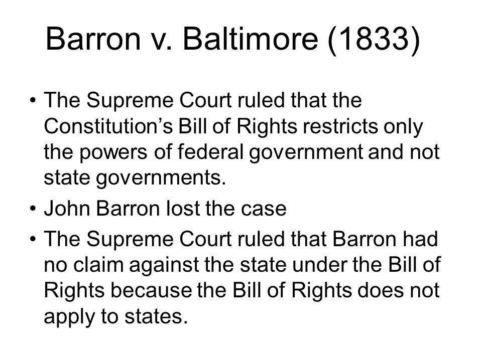 barron v baltimore decision