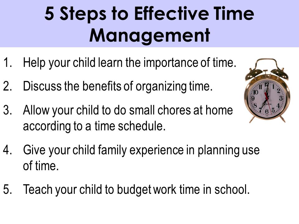 5 Steps to Effective Time Management