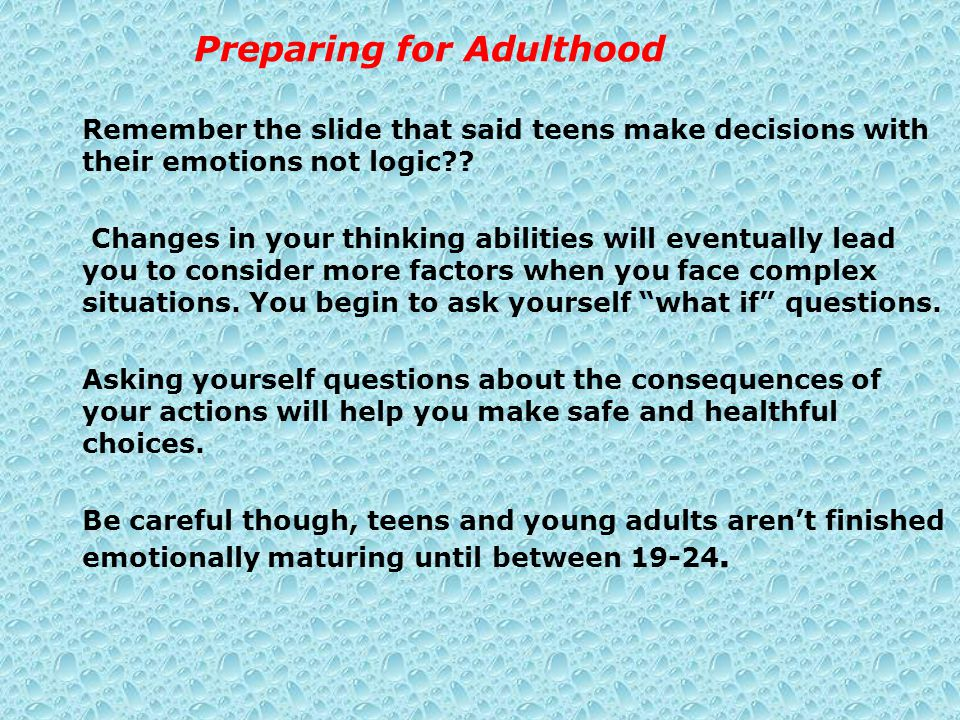 Preparing for Adulthood