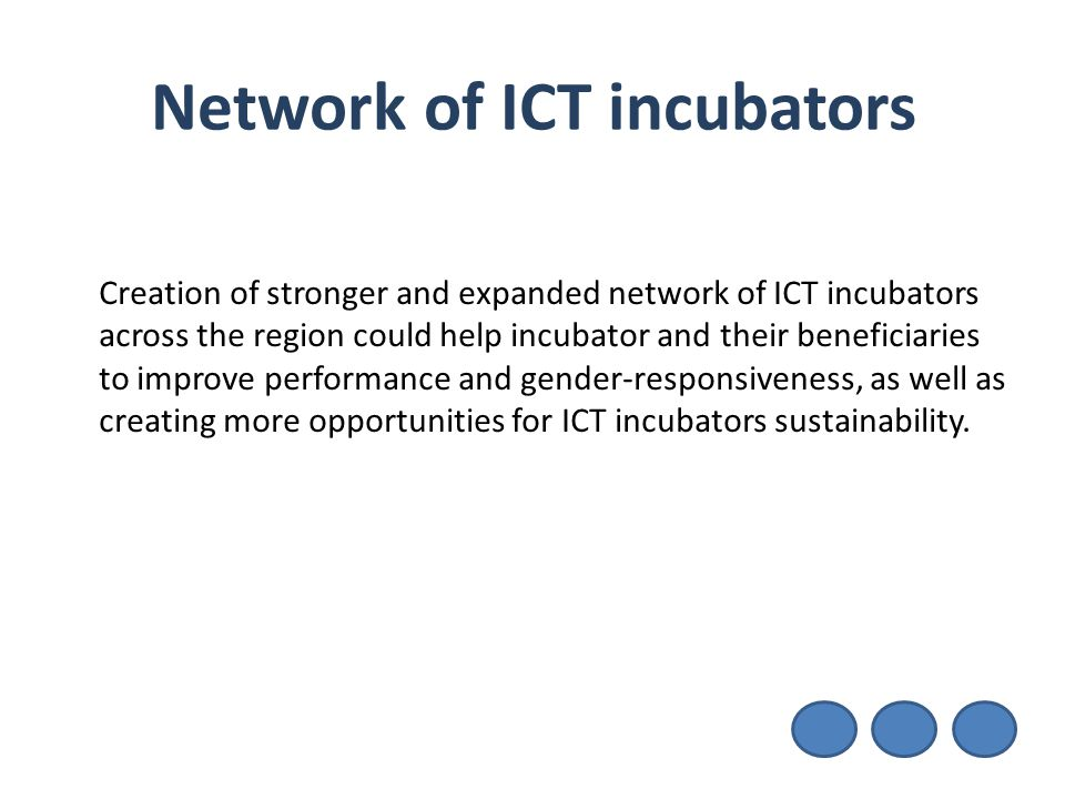 Network of ICT incubators