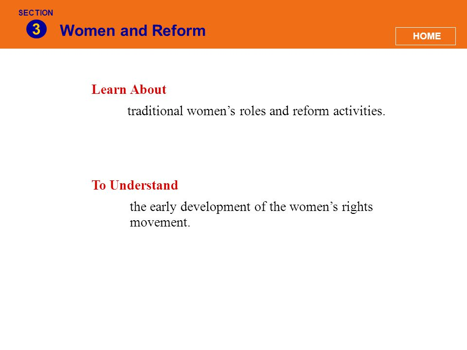 3 Women and Reform Learn About
