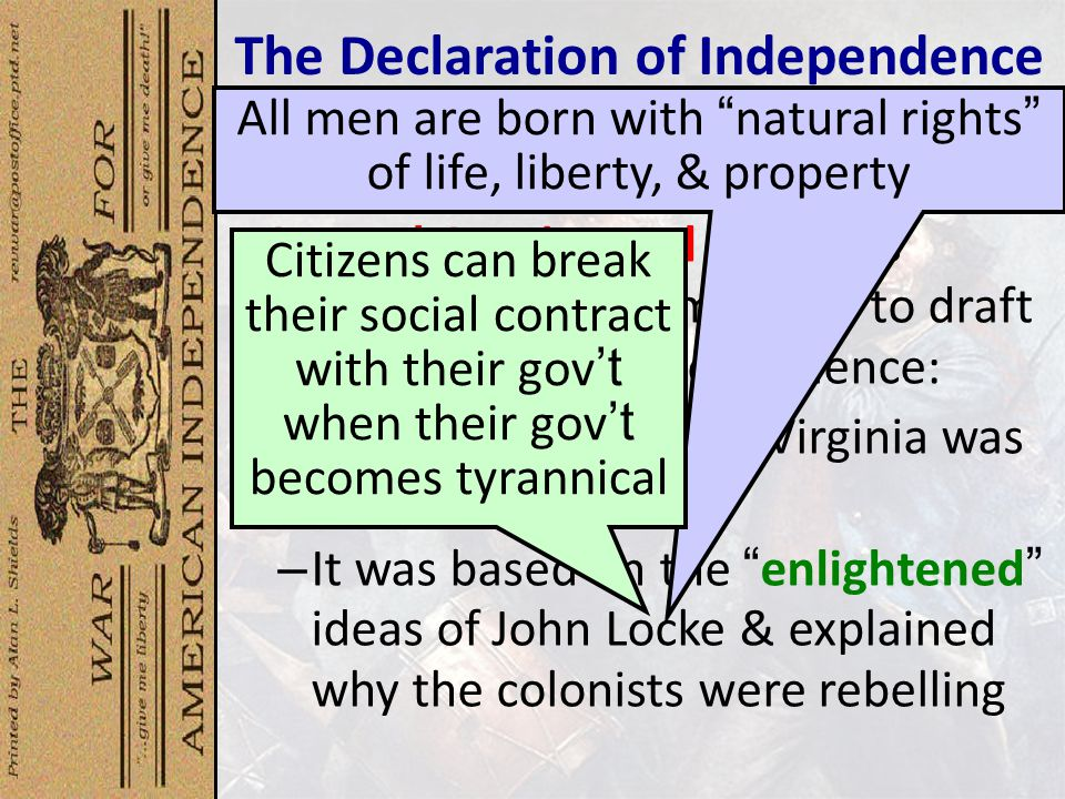 an examination of the structure of the declaration of independence To many in the continental congress, war was unthinkable so why did they finally create this revolutionary document.