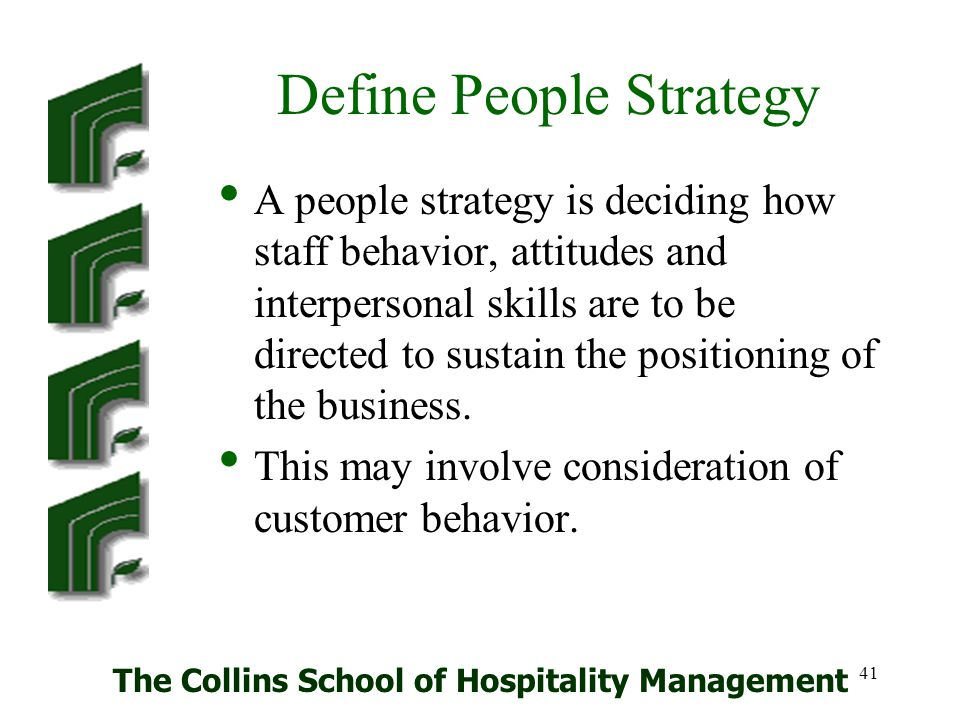 The Collins School Of Hospitality Management Ppt Download