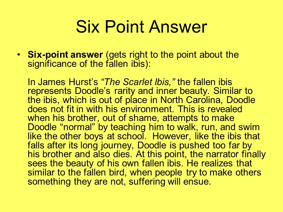 Six Point Answer