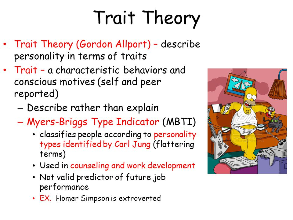 limitation of trait theory History of research the emergence of the concept of trait leadership can be traced back to thomas carlyle's great man theory, which stated that the history of the.