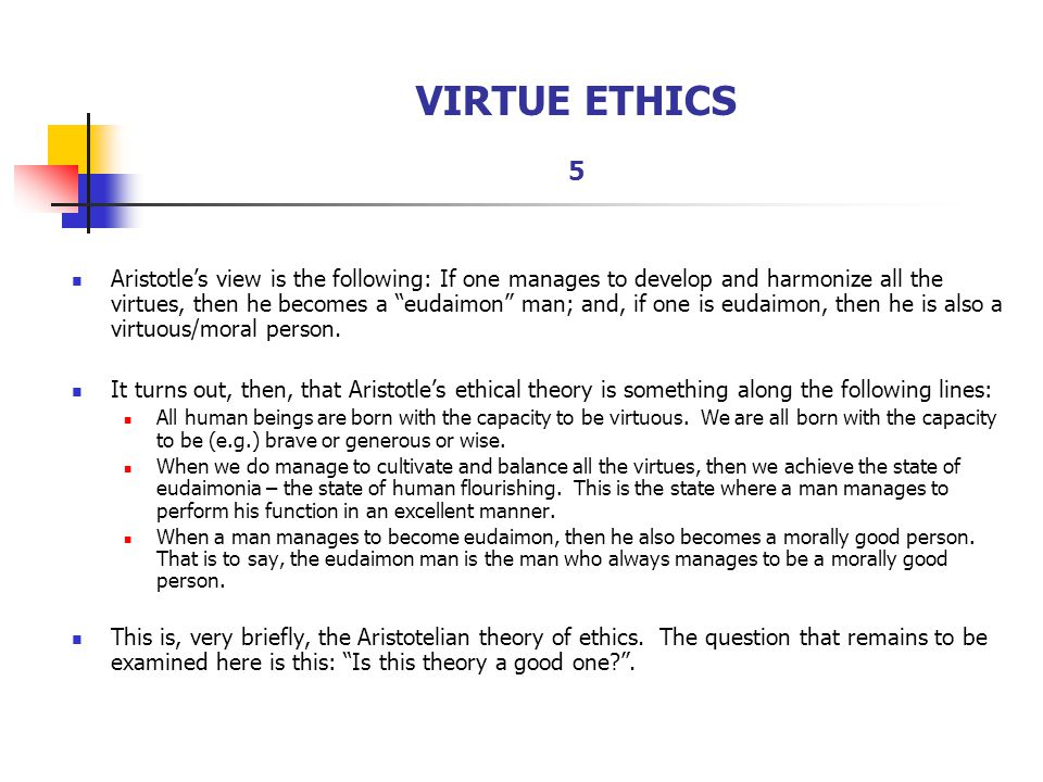 virtue ethics summary