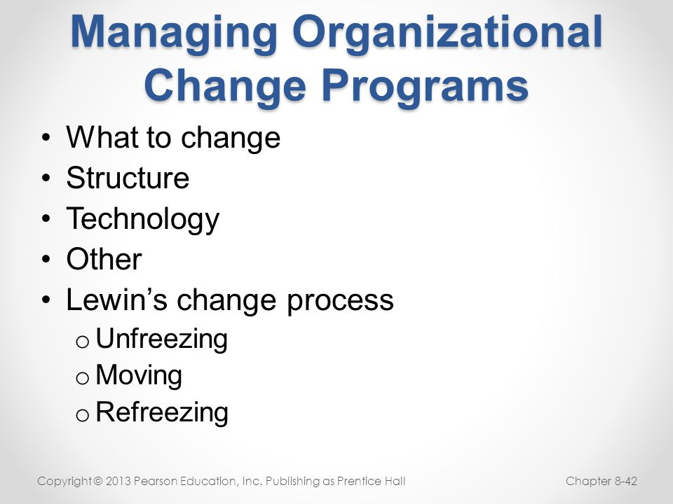 Managing Organizational Change Programs