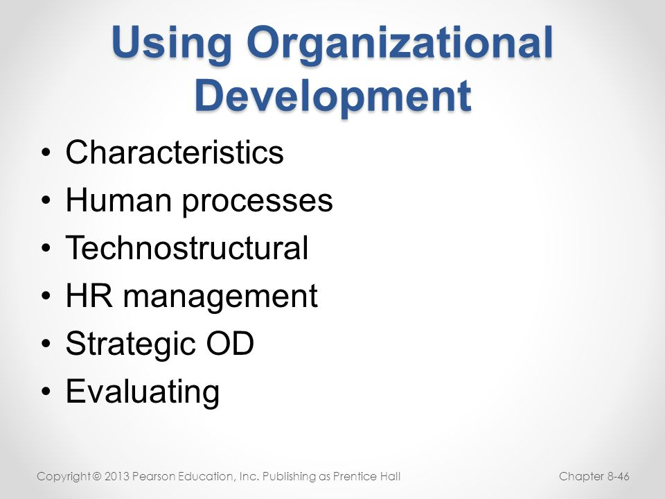 Using Organizational Development