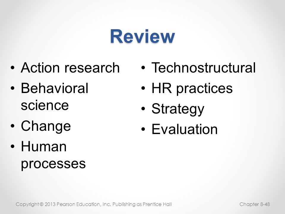 Review Action research Behavioral science Change Human processes