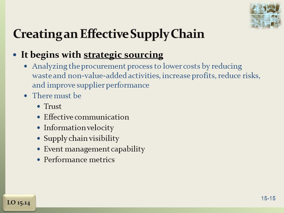 Creating an Effective Supply Chain