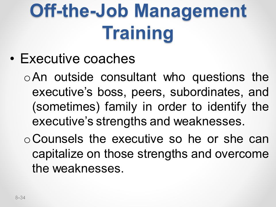 Off-the-Job Management Training