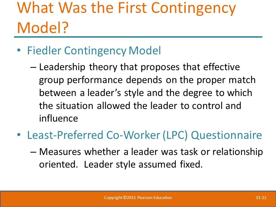 What Was the First Contingency Model