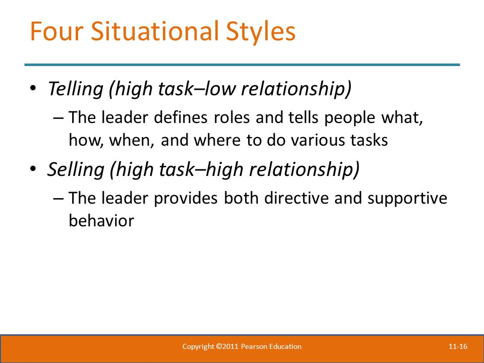 Four Situational Styles