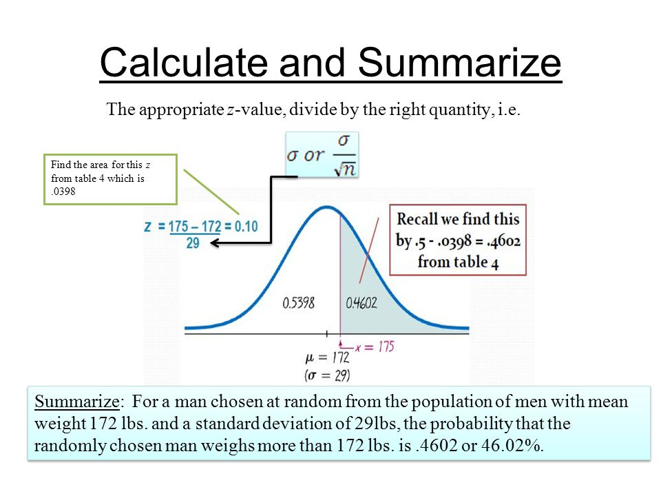Calculate and Summarize