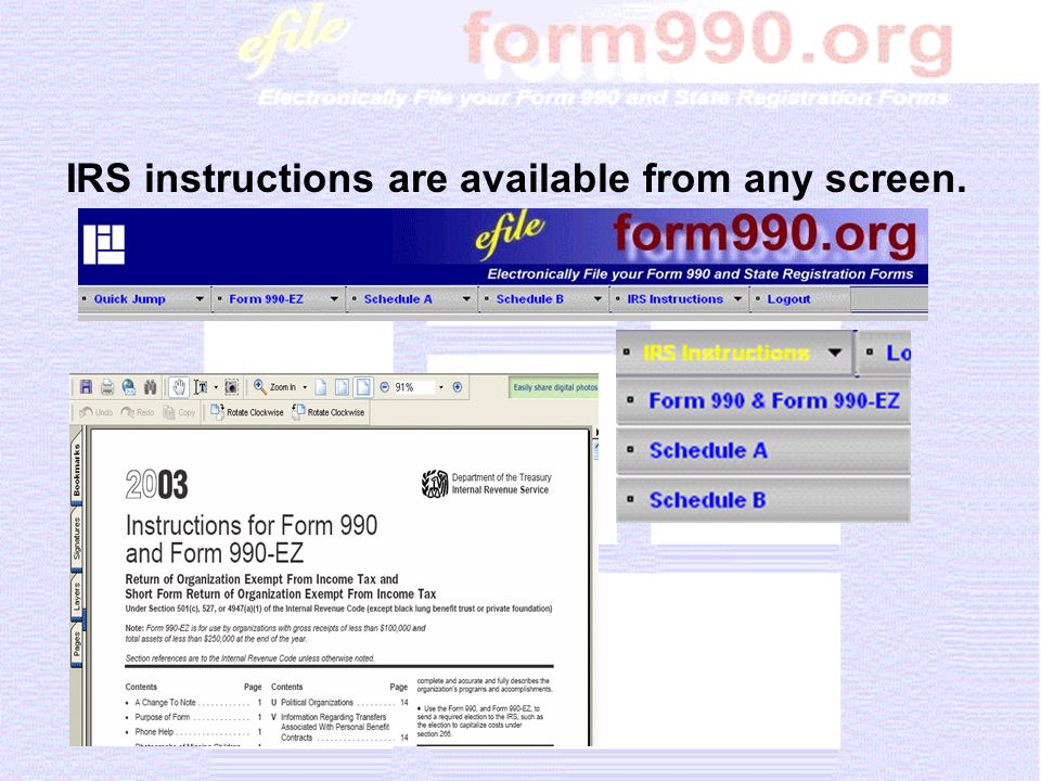 Overview Of The Form 990 Online Ppt Download