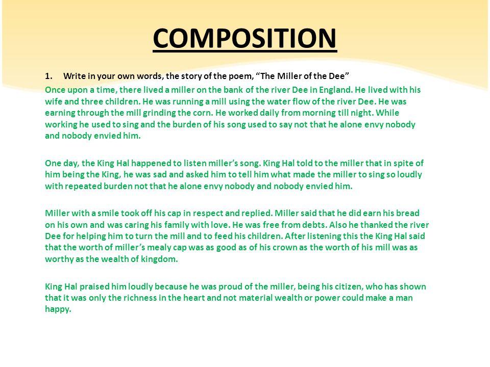 Poem 3 – The Miller of the Dee - ppt video online download
