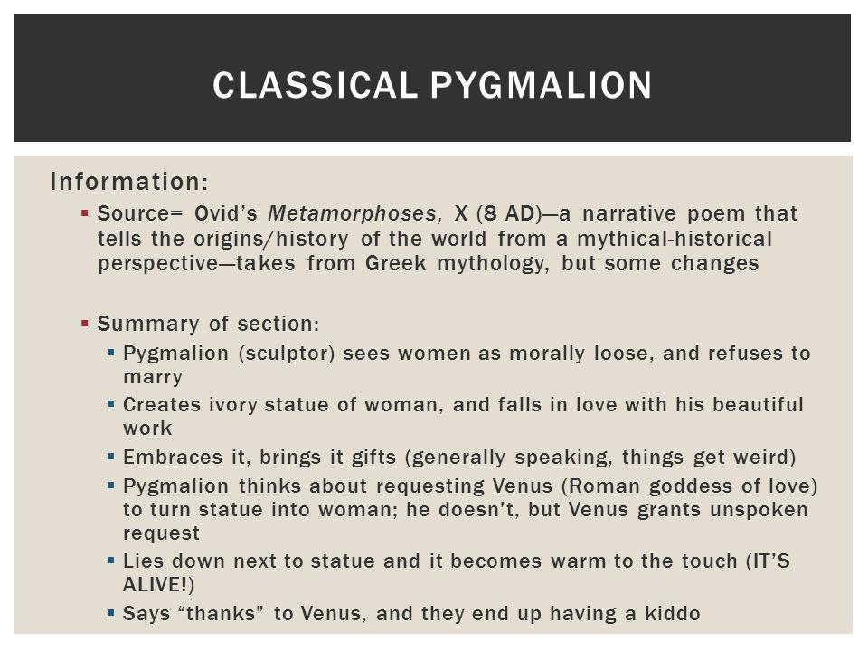what is the theme of pygmalion