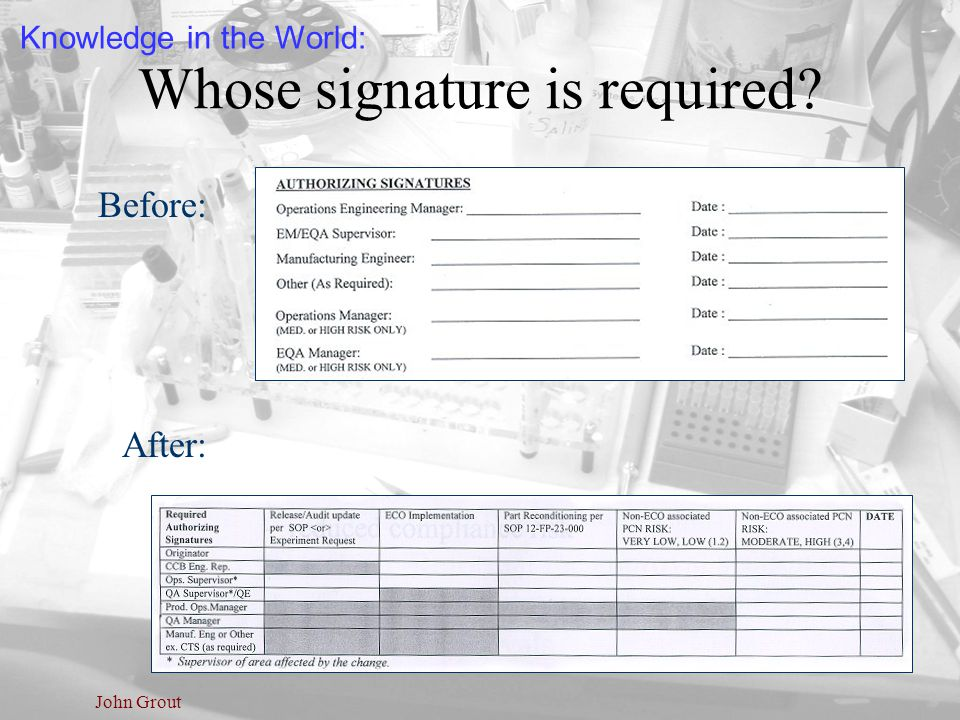 Whose signature is required
