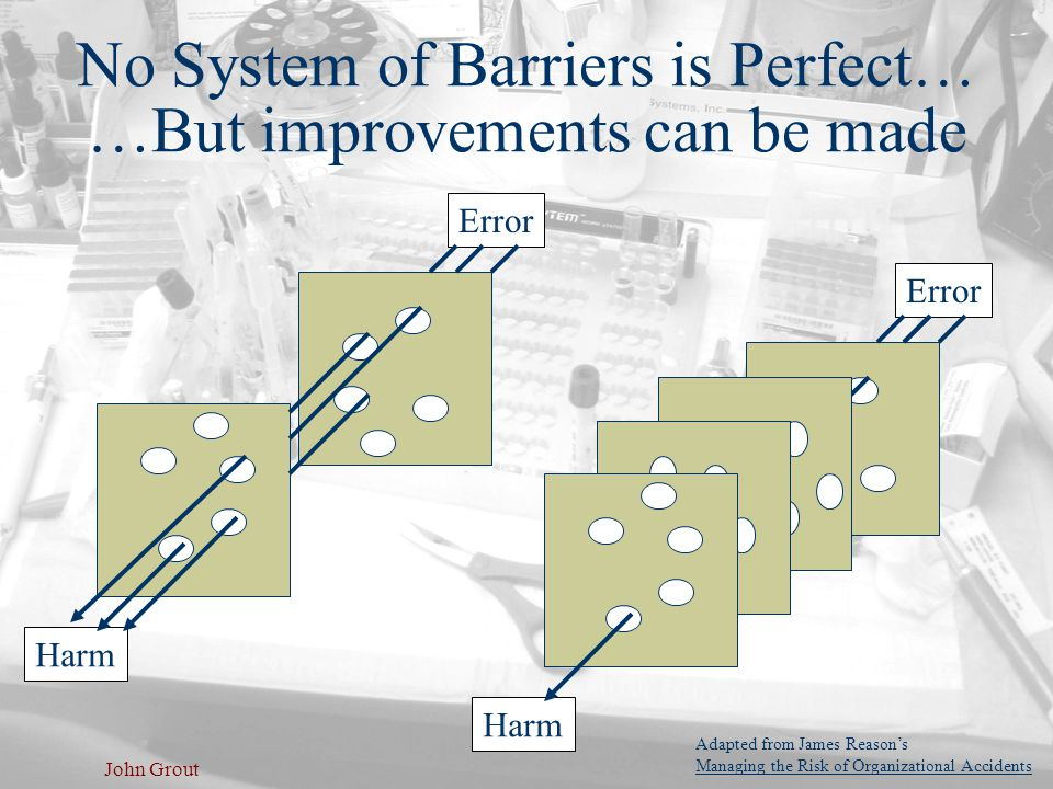 No System of Barriers is Perfect… …But improvements can be made