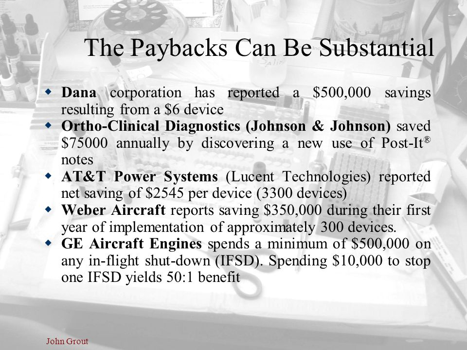 The Paybacks Can Be Substantial
