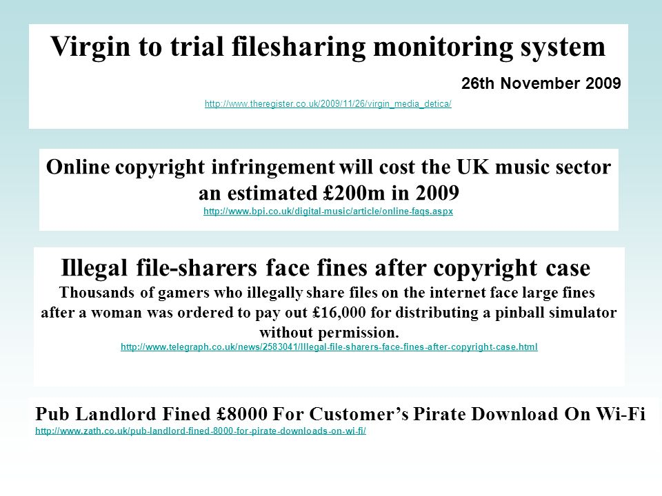 Virgin to trial filesharing monitoring system