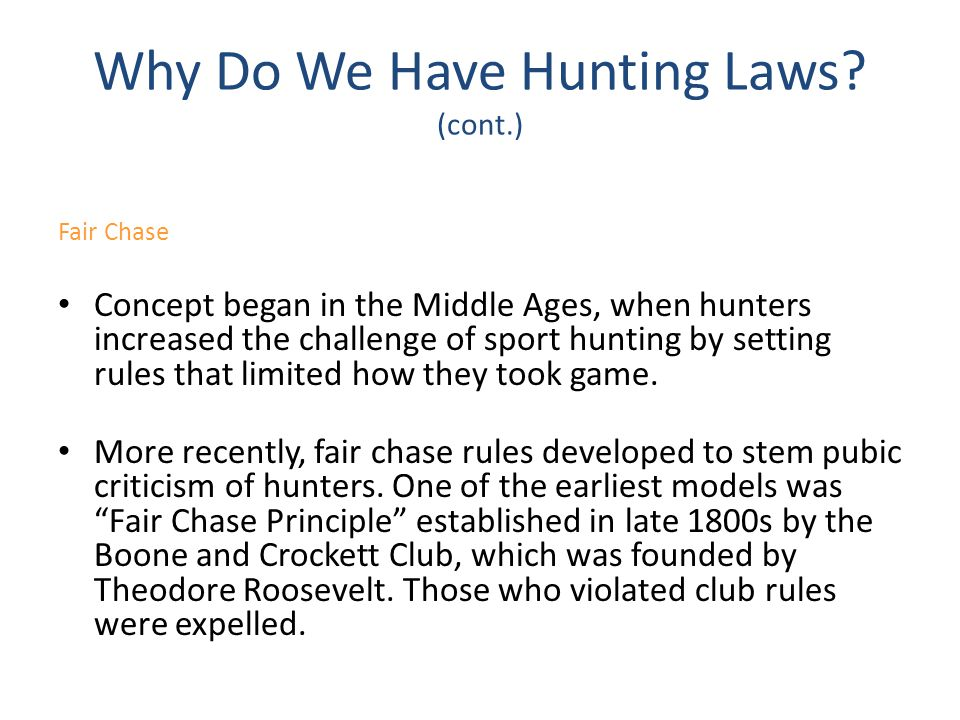 Lesson Seven Be a Responsible and Ethical Hunter - ppt video