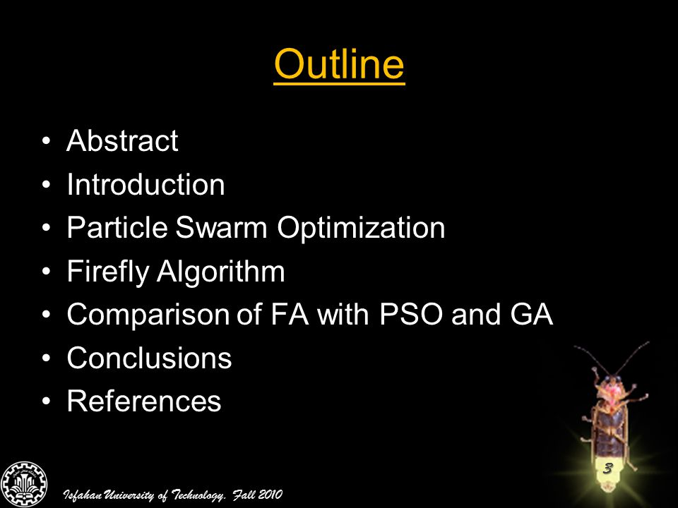 Firefly Algorithm by Mr Zamani & Hosseini  - ppt video