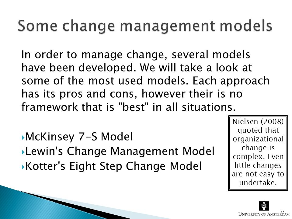 comparison of planned change models