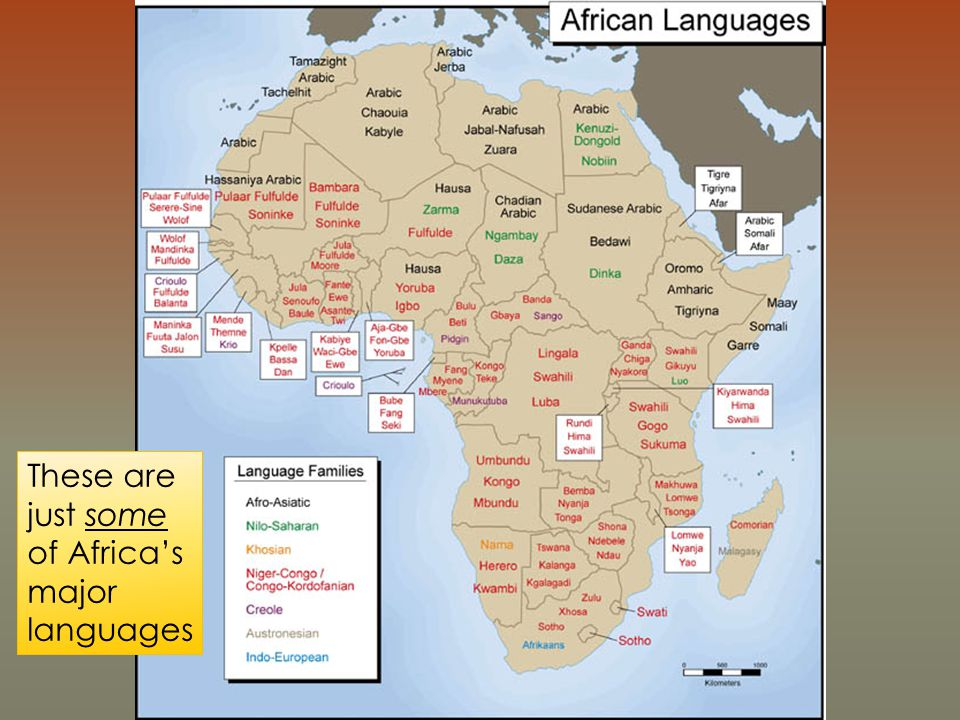 These are just some of Africa's major languages