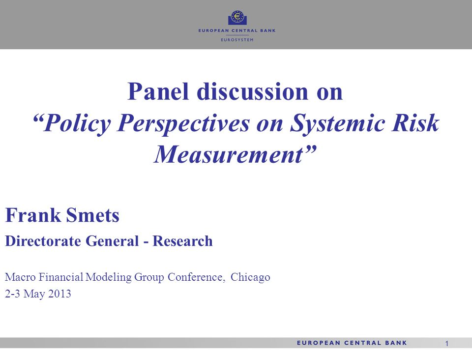 Policy Perspectives on Systemic Risk Measurement