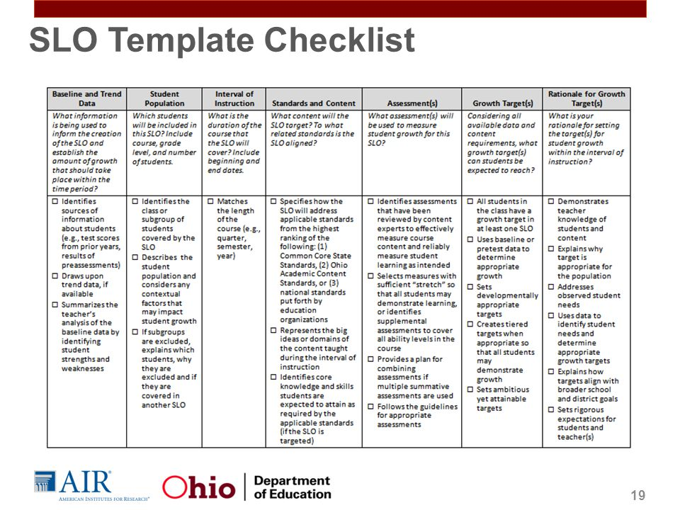 Slo Template | Student Growth Measures In Teacher Evaluation Ppt Video Online