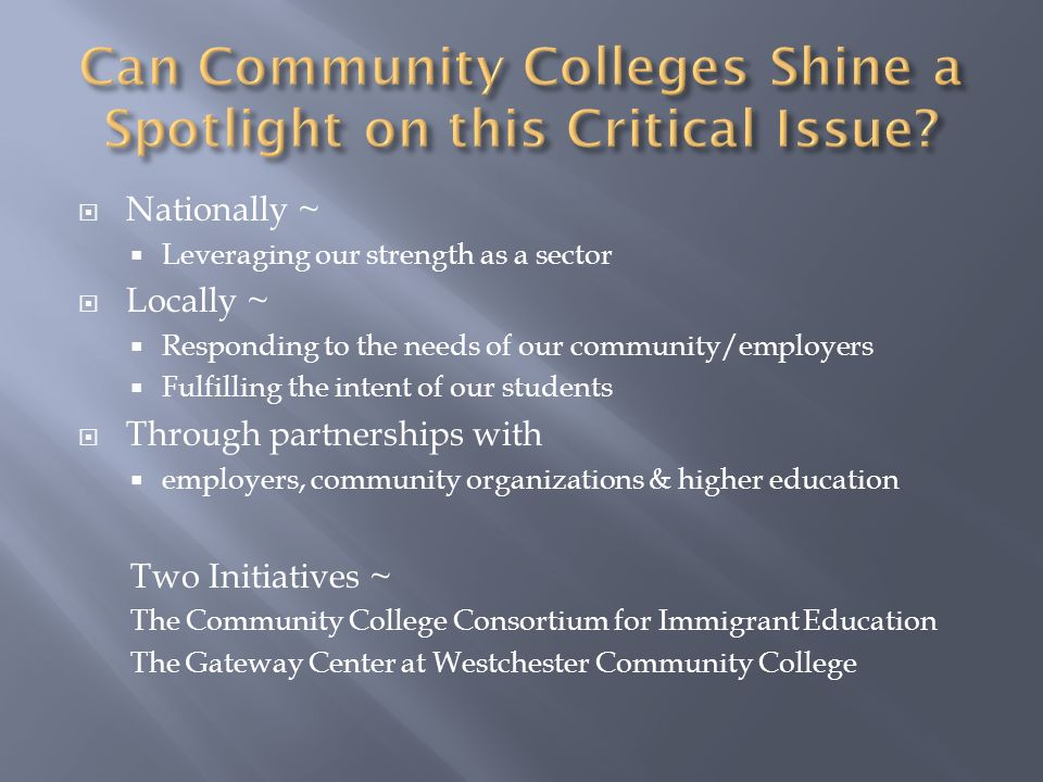 Can Community Colleges Shine a Spotlight on this Critical Issue