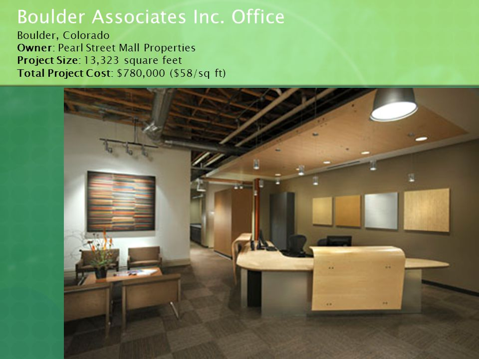 Boulder Associates Inc. Office