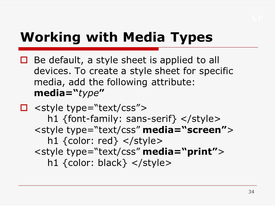34 Working With Media Types