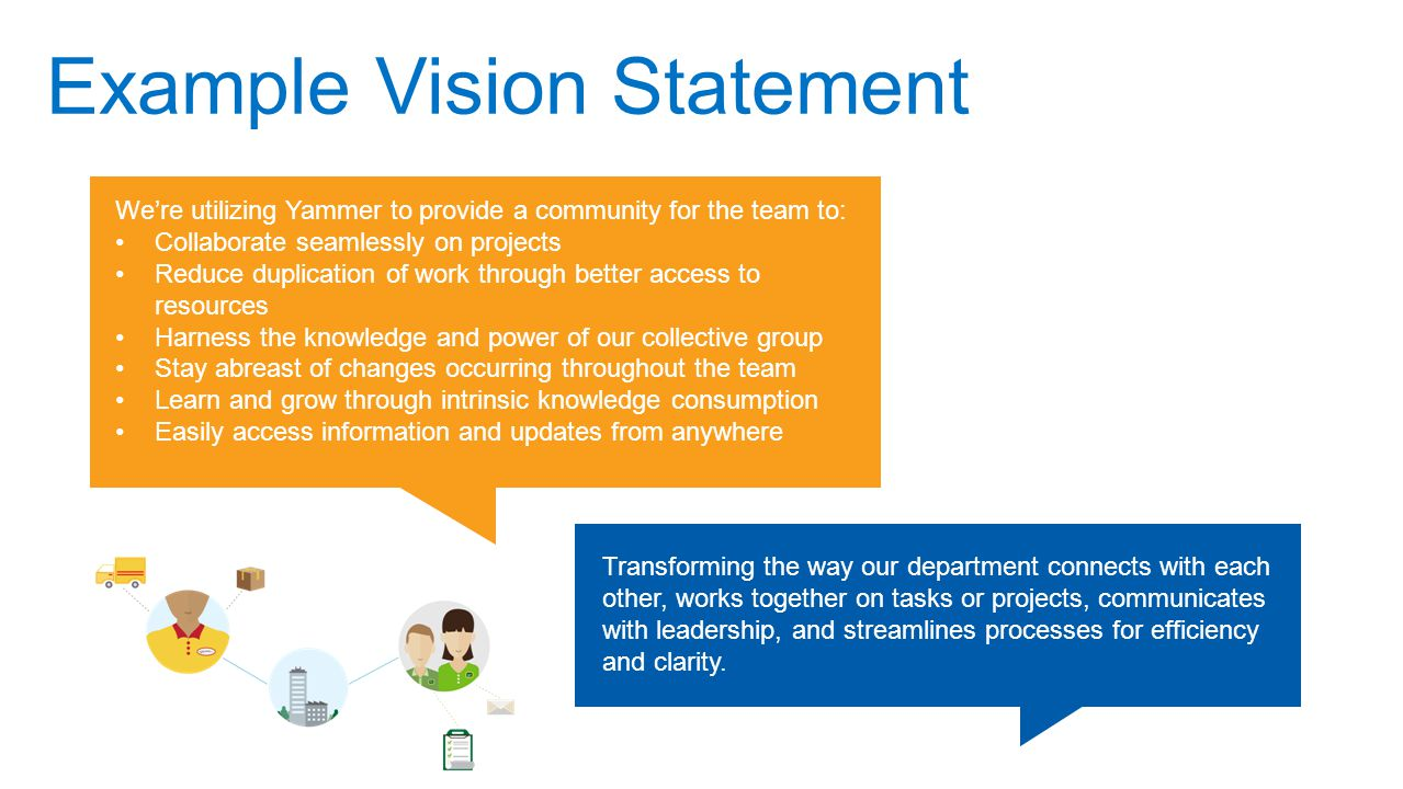 Vision statement template defining the team fun retrospectives.