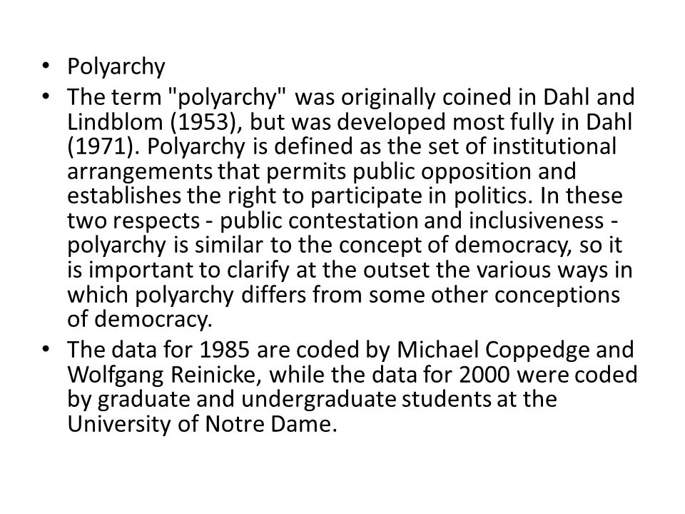 what is polyarchy