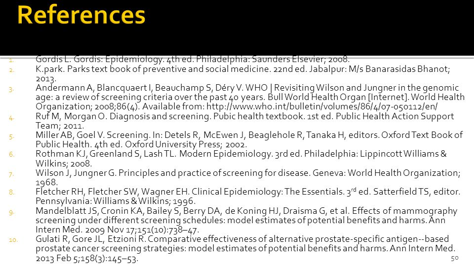 Public health basis of screening ppt download 50 references fandeluxe Images
