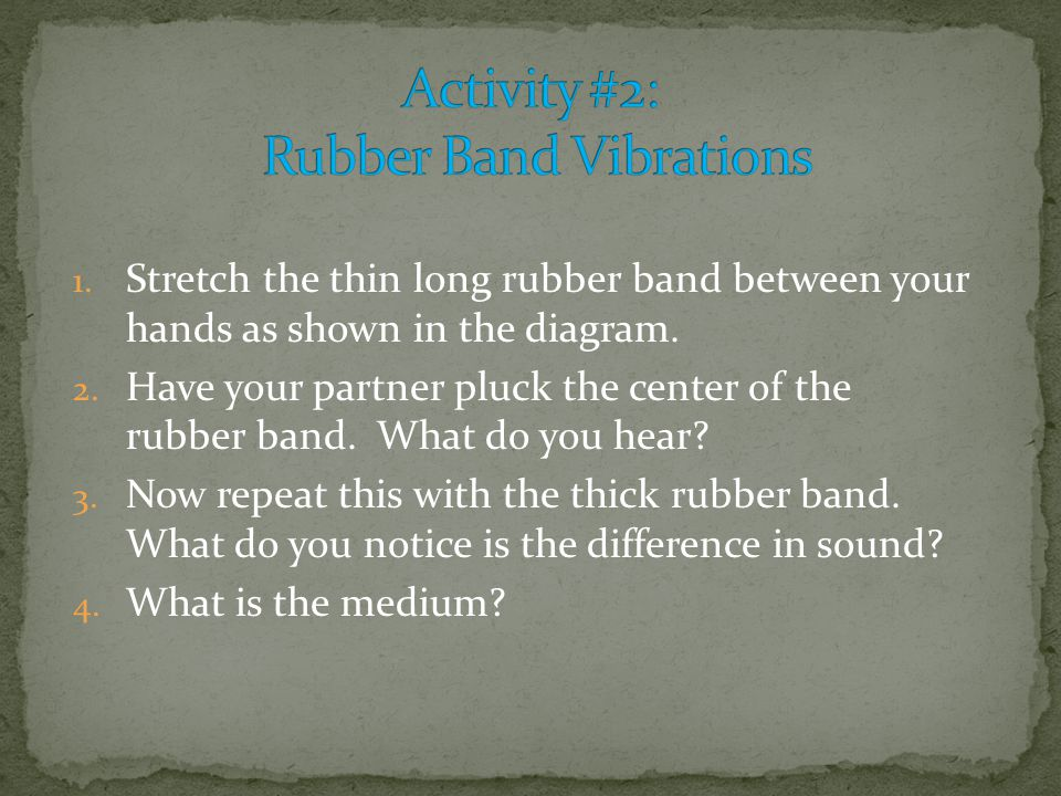 Activity #2: Rubber Band Vibrations
