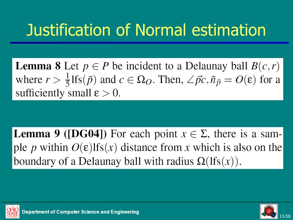 Justification of Normal estimation