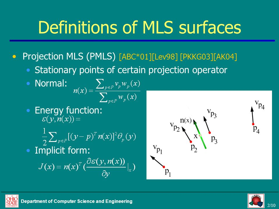 Definitions of MLS surfaces